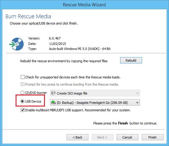 Troubleshooting USB rescue media - KnowledgeBase - Macrium