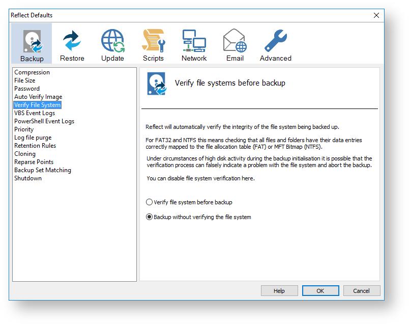 Macrium Reflect Default settings - KnowledgeBase v7 2