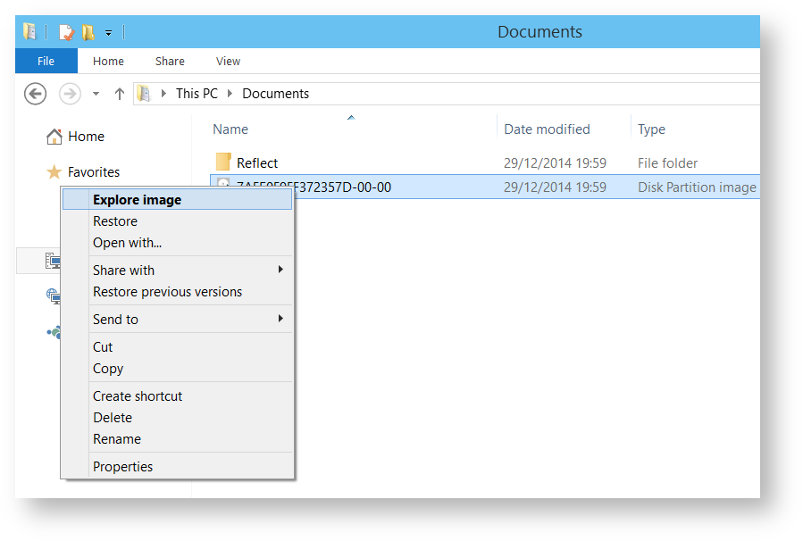 Browsing Macrium Reflect images and backups in Windows