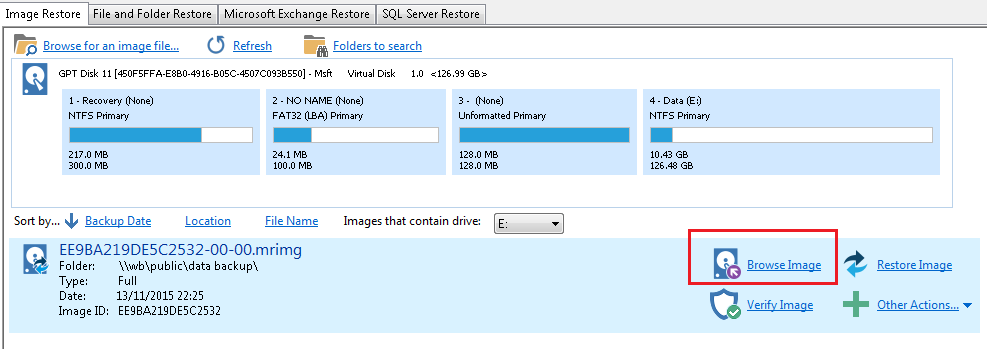 Browsing Macrium Reflect images and backups in Windows Explorer ...