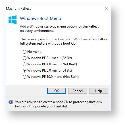 Adding a Boot Menu option for system Image recovery - KnowledgeBase