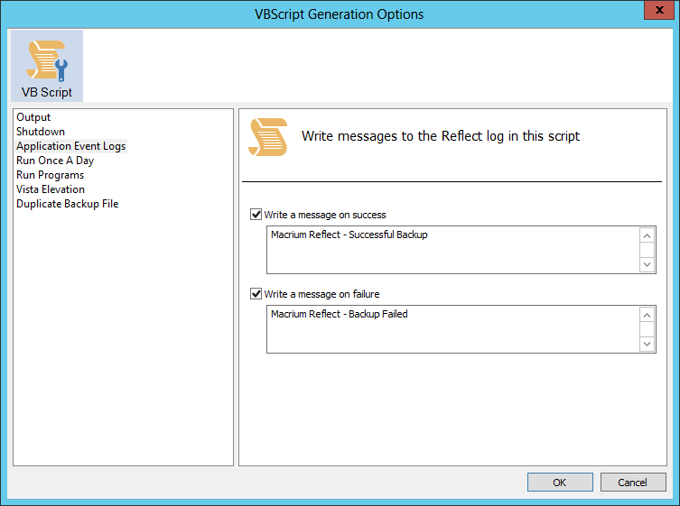 how to create a vbs script file