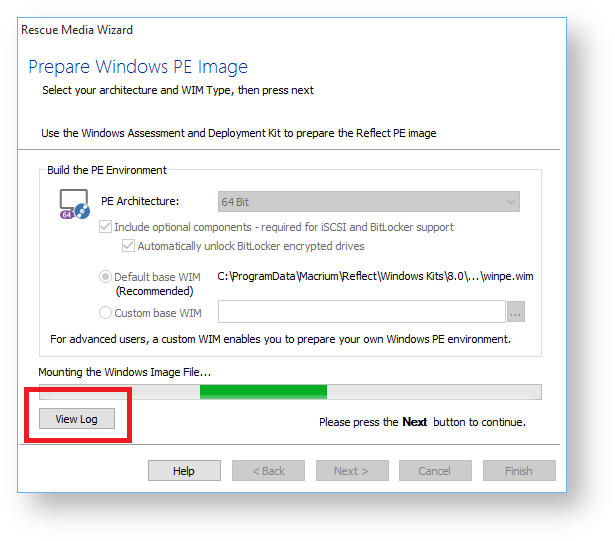 "View Error Log Windows 7: Windows PE Build Error: ""A Required Privilege Is Not Held"