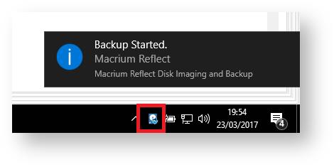 macrium reflect show progress